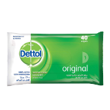 Dettol Antibacterial Alcohol Free Skin Wipes Original - 40 Wipes