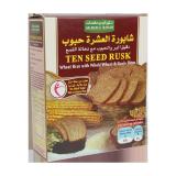 Ten seed rusk with wheat bran whole wheat & Grain Flour - 300G