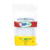 3P Cup Plastic Rectangular Tray - 25 Trays