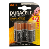 Plus Power AA Batteries -  4 + 2 Free Batteries