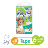 Babyjoy Diapers Compressed Diamond Pad Junior Mega Pack 16+ Kg Size 6 - 38 Diapers