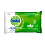Dettol Antibacterial Skin and Surface Wipes Original - 20 Wipes