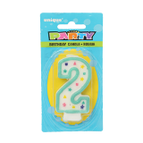 Birthday Numeral Candles #2 - 1PCS
