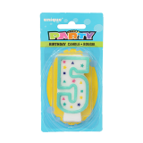Birthday Numeral Candles #5 - 1PCS