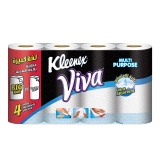Viva Household Towels Ultra-Absorbent -  3+1 Free Roll x 90 White sheets Multi Purpose