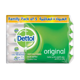 Dettol Antibacterial Skin Wipes Original Family Pack - 5 × 10 Wipes