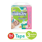 Babyjoy Diapers Compressed Diamond Pad Giant Pack Medium 6 - 12 Kg Size 3 - 84 Diapers