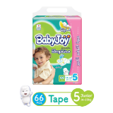 Babyjoy Diapers Compressed Diamond Pad Giant Pack 14 - 25 Kg Size 5 - 66 Diapers