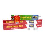 Aluminium Foil  Special Offer 2 x 45 Cm x 600 Cm + Cling Film 30 M X 30 Cm - 2+1 count
