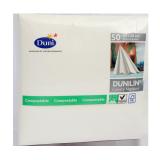 Duni Napkins Dunilin white - 50 count