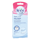 Hair Remover Wax Strips Sensitive Skin - 20 Count