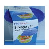 Food storage container set blue 800ML - 6 PCS