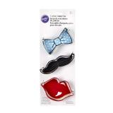 Cookie cutter Tie  Lip  mustache - 1 PCS
