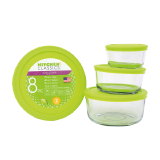 Glass round container - 3 PCS