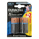 Ultra Power AA long lasting Battery with power check -  4 + 2 Free Batteries