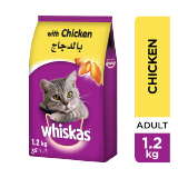 Whiskas Adult 1+ Cats Food With Chicken -  1.2Kg