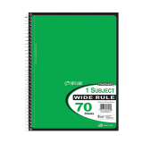 One subject wide ruled notebook 70 sheets - 1PCS