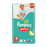 Pampers Pants Diapers Size 4 Maxi 9 - 14 Kg Jumbo Pack - 52 Count