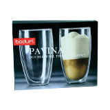 Pavina double wall tall glass 450ml - 2 PCS