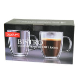 Bistro double wall mug 450Ml - 2 PCS