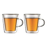 Canteen double wall mug with handle - 1 PCS