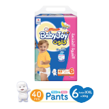 Babyjoy Culotte Unisex Jumbo Pack Junior Xxl 16+ Kg Size 6 - 40 Diapers