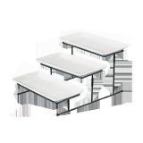 Ceramic rectangle bowl with rack - 3 PCS