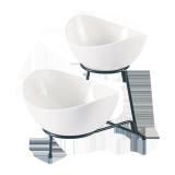 Ceramic bowl with rack - 2PCS