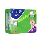 Fine Baby Diapers Junior 22+ Kg Size 6 Jumbo Pack - 38 Diapers