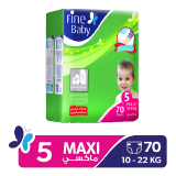Fine Baby Diapers Maxi 10 - 22 Kg Size 5 Mega Pack - 70 Diapers