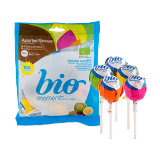 Organic lollipops assorted flavors - 104G