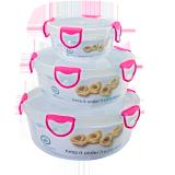 Food storage container round - 3 PCS