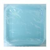 Square Paper Plates Powder Blue - 14PCS