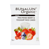 Organic Mini Mixed Berries & Yoghurt Rice Cakes - 60G