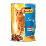 Friskies Cat Food Pouch with Salmon In Gravy - 100G