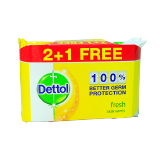Dettol Antibacterial Fresh Skin Wipes 2 + 1 - 3X40 Wipes