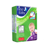 Fine Baby Diapers Junior 22+ Kg Size 6 Mega Pack - 66 Diapers