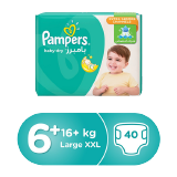 Pampers Baby-Dry Diapers Size 6+ Extra Large+ 16+ Kg Giant Pack - 40 Count