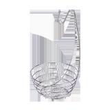 Metal Fruit basket nickel - 1 PCS