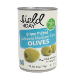 Olives Grain Medium Pitted Canned Ripe - 6Z