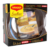 Excellence Chicken Soup with Corn -  47G x 5 Sachets + Free Pyrex