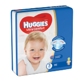 Huggies Ultra Comfort Diapers Size 3 Jumbo Pack 4 - 9 Kg - 82 Diapers