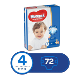 Huggies Ultra Comfort Diapers Size 4 Jumbo Pack 8 - 14 Kg -  72 Diapers