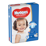Huggies Ultra Comfort Diapers Size 4+ Jumbo Pack 10 - 16 Kg -  68 Diapers
