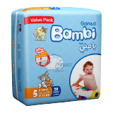 Bambi Diapers Value Pack Xl 13 - 25 Kg Size 5 -  28 Diapers