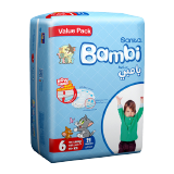 Bambi Diapers Value Pack Xxl 18+ Size 6 - 21 Diapers