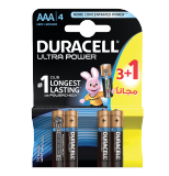 Ultra Power AAA long lasting Battery with power check - 3 + 1 Free Batteries