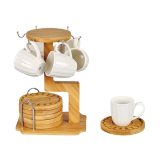 Tea cup set 6 small cups - 13 PCS