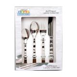 Flatware silver set bending handle - 16 PCS