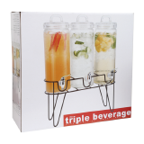 Glass beverage dispenser with rack - 3 PCS
